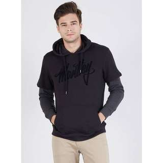 Moutley Men Texted Hooded Sweater