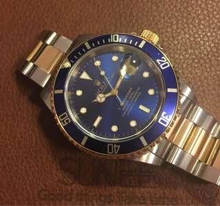 Rolex 16613 submariner 金鋼手錶