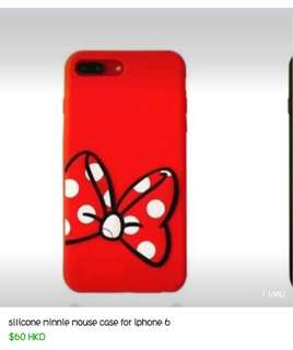 MINNIE MOUSE SILICONE CASING FOR IPHONE 6