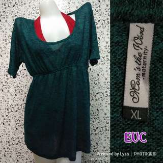 Green maternity top blouse