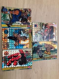 Street Fighter 閃卡 5張