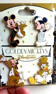 迪士尼襟章 Golden Mickey