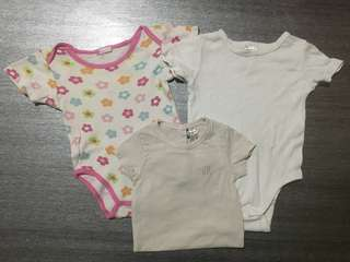 Combo Baby Rompers 6-12m