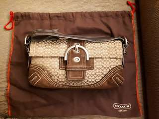 Coach hand bag with dust bag