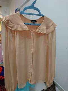 Topshop peach blouse