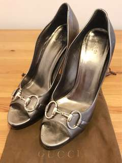 Gucci horsebit peeptoe sandals