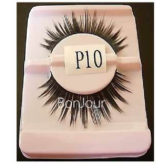 #P10 : False Eyelash : Eyes : Lash : Lashes : Eyeslash : Eyeslashes : Eyelashes : Falsies : Face : Facial : Makeup : Cosmetics : Beauty : Tools : Ladies : Girls : Women : Female : Lady : Sellzabo : Black Colour