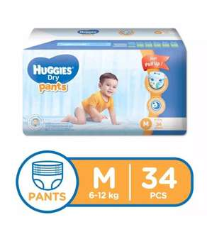 Huggies Dry Pants Medium 34s