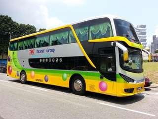 Bus ticket from Melaka to singapore 15.7.2018