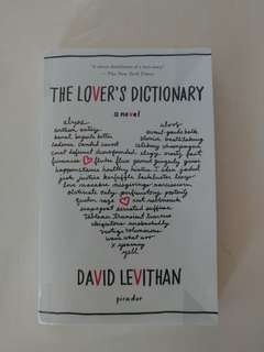 The Lover's Dictionary by Dacid Levithan