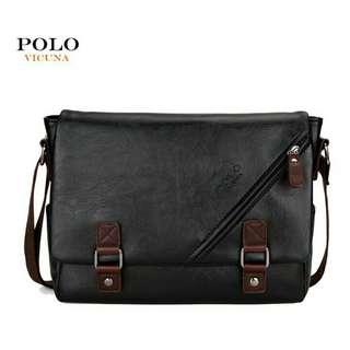 Vicuna Polo Diagonal Zipper & Satchel Bag