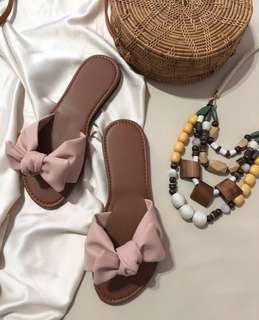 NEW!!! Bow tie sandals in blush
