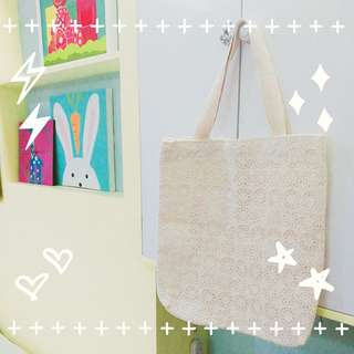 White Canvas Bag