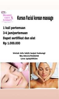 Kursus Facial Massage Korean