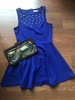 Blue dinner party dress