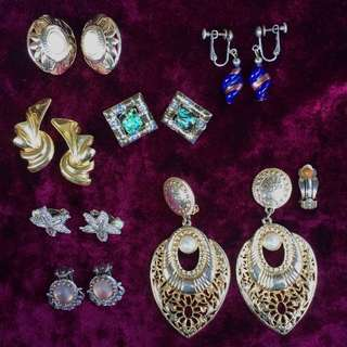 Vintage Clip On Earring Collection