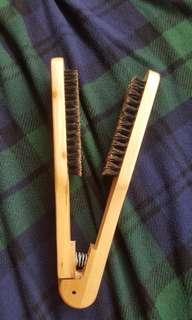 Wooden Comb brush rebond straight