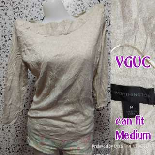 Glittered knitted blouse