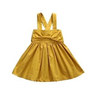 Mustard Ribbon Dress