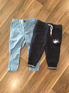 Baby Gap sweatpants & HM khaki pants