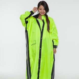 佐海 Joahi Arai W027 雙側開雨衣 螢光綠