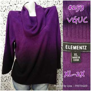 Violet knitted blouse