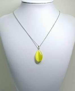 Yellow Cat's Eye Pendant Necklace