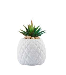 Pineapple Faux Plant Pot