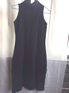 Navy Blue Dress with Slit (Preloved)