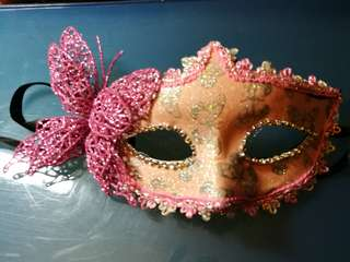 Party pink mask with butterfly