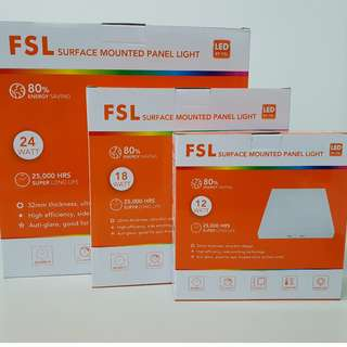 [FSL] [12 watt] Square or Round Surface Mounted LED Panel Light