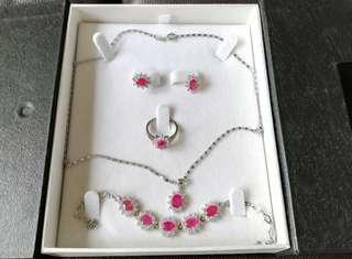 Red Ruby Blink Costume Jewellery