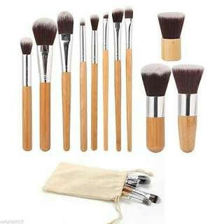 Bamboo Brush Set - isi 11 pcs