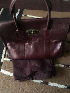 Authentic Mulberry Bayswater in oxblood leather