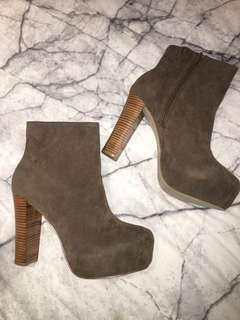 *NEW* Therapy Taupe Heel Boots
