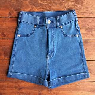 DrDenim High Waist Denim Shorts BNWOT