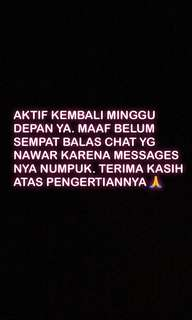 Maaf masih sibuk 🙏