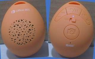 IBomb Cobble with Office 365 Logo 無線藍牙揚聲器,免提麥克風和自拍相機快門按鈕