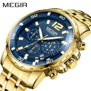Megir Gold Casual Watch