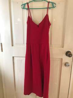 Red jumpsuit rompers