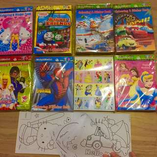 Goodie bags Coloring and stickers book