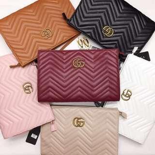 Gucci 2 way sling clutch bag