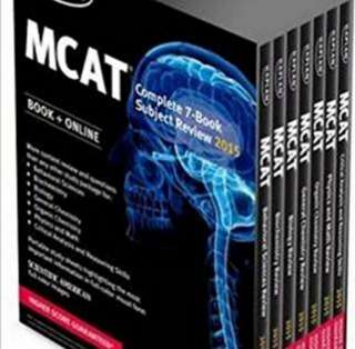 MCAT textbooks and papers (also sold separately)