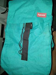 Supreme Flat Backpack (Turquoise in colour ONLY).