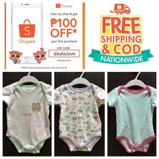 Baby onsies take 3 for 290 12 months