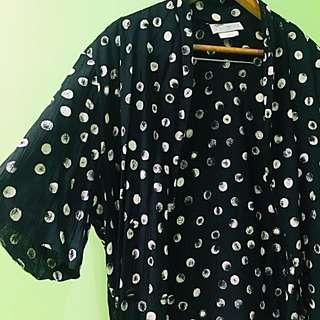 Polka dot light short-sleeved blazer