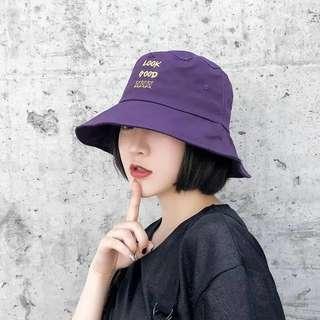 日系刺繡漁夫帽