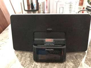Philips alarm, radio, iPhone dock