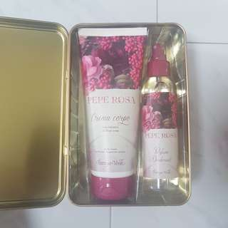 Bottega Verde Body Cream and Perfume Deodorant set