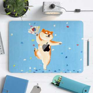 Dancing Japanese Shiba Inu Macbook Vinyl Decal